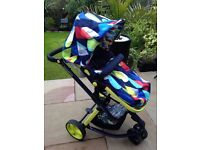 Cosatto Giggle 2 Pitter Patter pushchair with footmuff and raincover