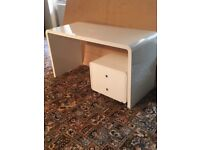 Dwell Furniture -Contemporary home/office high gloss white desk and drawer unit