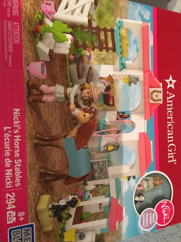 American girl Nicki horse stable