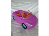 SMALL TOY PINK CAR