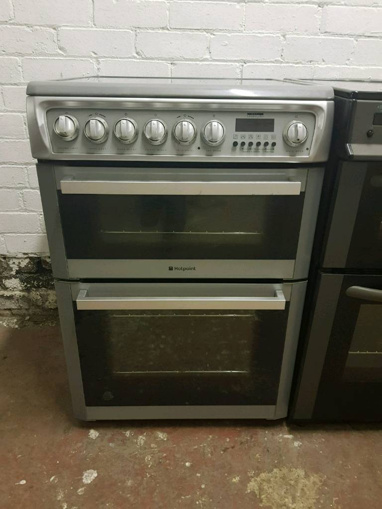 Hotpoint 60cm ceramic silver cooker