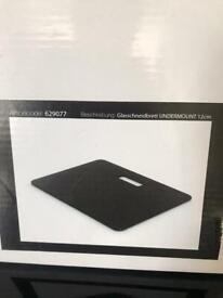 Caple Black Glass Chopping Board CGCB5 worktop Protector Sink Cover