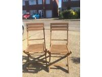 Two wooden chairs £5