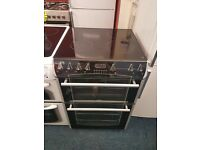 BELLING 60CM CEROMIC TOP ELECTRIC COOKER IN BLACK. R