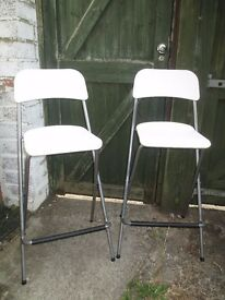 Pair of IKEA Franklin bar stools in good condition.