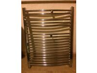 Towel radiator metal chrome siliver look