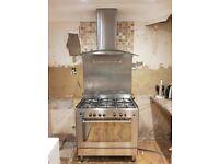 DeLonghi dual fuel range cooker