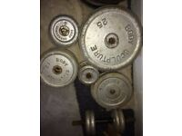Many iron weights for sale, Hayes