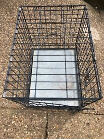 Small pet crate 60cm long, 46 cm high and 46cm deep