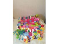 MEGA BLOKS 150 piece bundle of First Builders, In the Night Garden+ Sports Car
