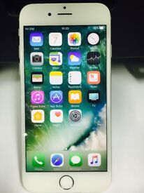 IPhone 6 64 gb Unlocked good condition WITH warranty & Receipt white 02/ Giffgaff network