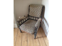 Two BEAUTIFUL Antique Armchairs - Require work