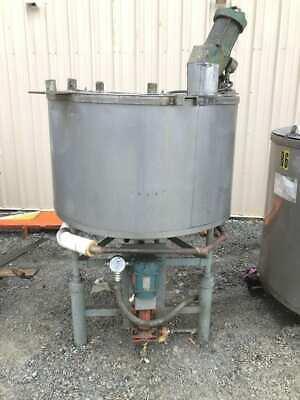 175 Gallon Stainless Steel Jacketed Mixing Tank W Lightnin Mixeragitator