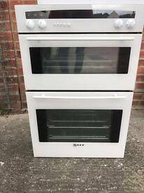 Neff integrated double oven and a neff Hob
