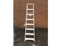 Ex vp hire station 7rung aluminium step ladders