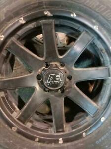 MAGS WITH SUMMER TIRES 275/55 R20 6HOLE RIMS