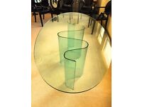 Very Rare Full Glass Dining Table for 6/8 by Fiam Italia by Bartoli Design