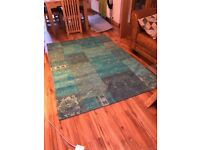 Beautiful Egyptian woven rug in teal (140x200cm)