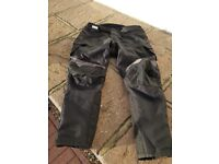 Lewis Motor Bike Black Trousers With Liners XXL