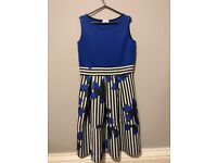 Floral Navy blue/ white dress for sale size 14