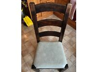 Solid wood farmhouse style dining chairs, set of 6 - £75