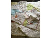 MOTHERCARE HUMPHREYS CORNEY COT BEDDING SET