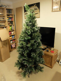 6ft Christmas Tree, Hanging decorations + Lights