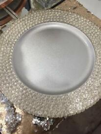 Crystal charger plates x5