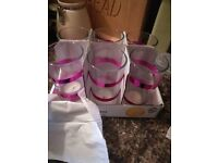party glasses or and candle holders