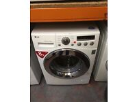LG WASHING MACHINE 8KG DIRECT DRIVER MOTOR WHITE RECONDITIONED