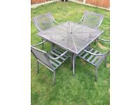 Garden/patio dining furniture set