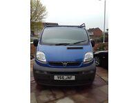 Blue Vauxhall Vivaro