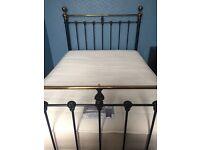 Hamilton Satin Black Metal Double Bed Frame