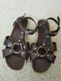 Genuine Timberland Leather Sandals