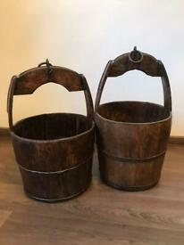 Traditional Chinese well buckets