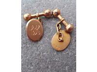 Solid gold cufflinks