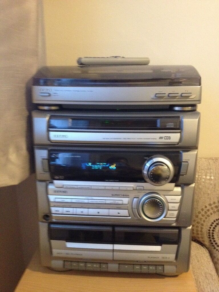 aiwa hi fi record player hifi turntable triple cd twin cassette radio in whalley range. Black Bedroom Furniture Sets. Home Design Ideas