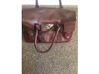 Oxblood mulbury handbag