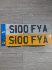 Cherished Private Number Plate S100FYA