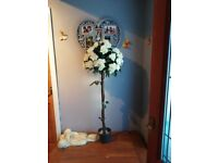 Artificial white rose tree