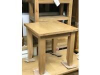 Solid oak square lamp table