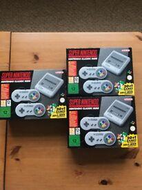 Super Nintendo Classic Mini - Mini Snes - Brand New Unopened ( 1 available )