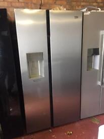 NEW**Beko American style fridge freezer ice&water silver EXCELLENT CONDITION PRP£899 BEKO 2door f&f