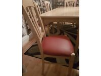 Big table with 6 chairs for sale