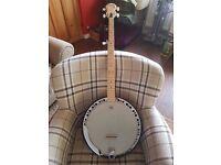 5 String Ashbury Banjo and Gigging Case