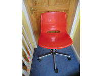 Ikea Red chair on castors