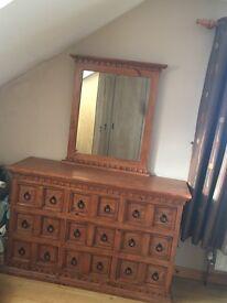King size Bed & Dresser