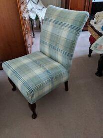 Stunning Tartan Chair Newly Recovered in Moon Kincraig fabric