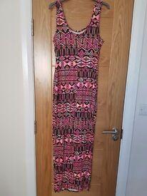 Summer dress with retro print