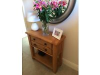 Stunning oak console table